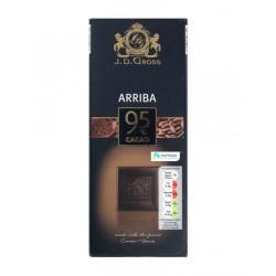 "95% Ecuador cocoa beans dark chocolate ""J.D.Gross"", 125 g"
