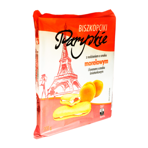 """Apricot cream biscuits """"Paryskie"""", 200 g"""