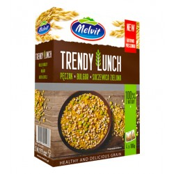 "Barley, bulgur, green lentils ""Melvit"" Trendy Lunch, 4x100 g"