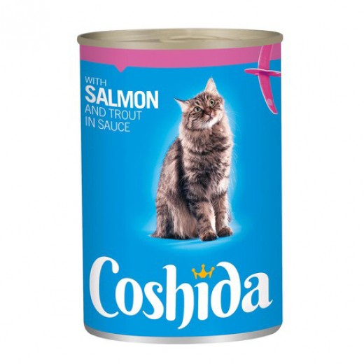 "Wet cat food with salmon & trout in sauce ""Coshida"", 415 g"