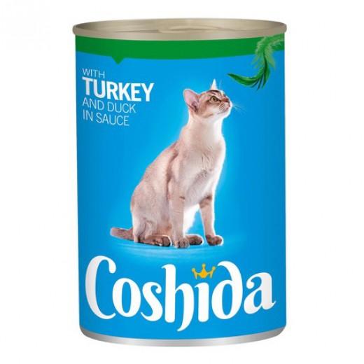 """Wet cat food with turkey & duck in sauce """"Coshida"""", 415 g"""