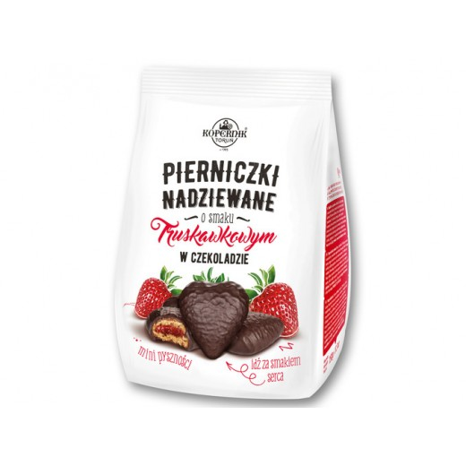 "Chocolate gingerbread with strawberry filling ""Kopernik Torun"", 150 g"