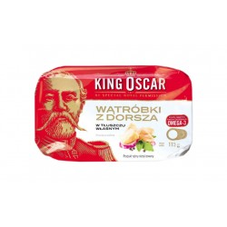 "Cod liver in own natural oil ""King Oscar"", 115 g"