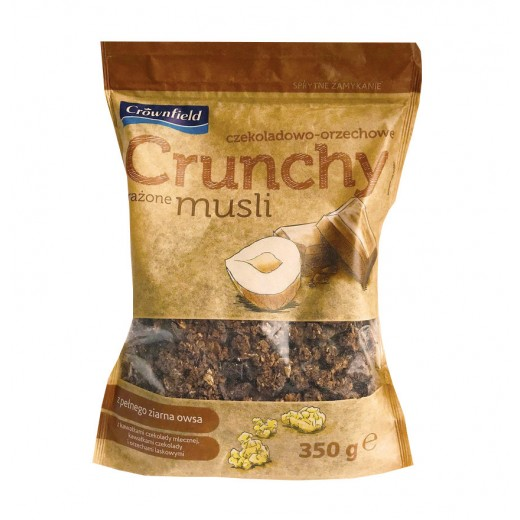 "Crunchy muesli with hazelnuts & chocolate ""Crownfield"", 350 g"