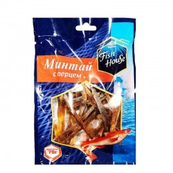 """Dried pollock with pepper """"Fish House"""", 70 g"""