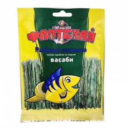 Dried & salted fish strips with wasabi flavour, 15 g