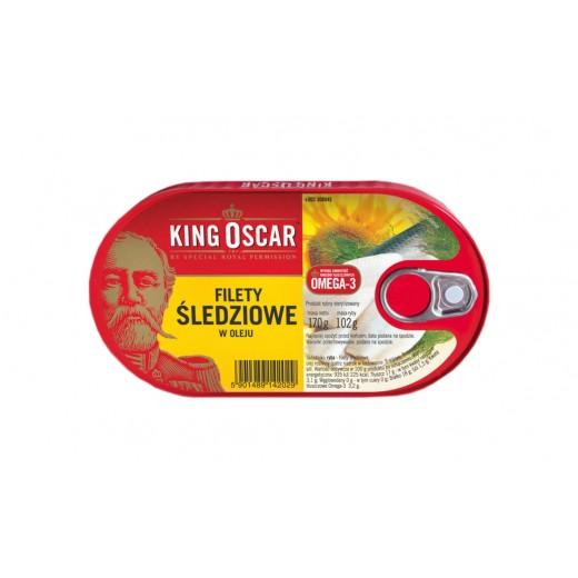 "Herring fillets in vegetable oil ""King Oscar"", 170 g"