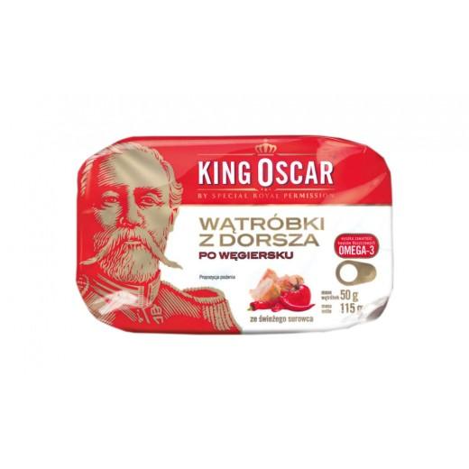 "Hungarian style cod liver ""King Oscar"", 115 g"