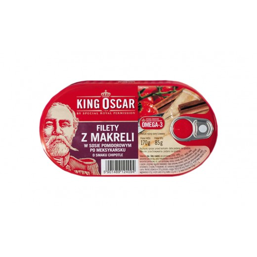 "Mackerel fillets in Mexican chipotle & tomato sauce ""King Oscar"", 170 g"