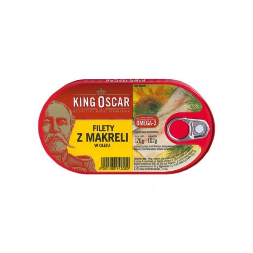 "Mackerel fillets in vegetable oil ""King Oscar"", 170 g"