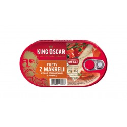"Mackerel fillets in pepper & tomato sauce ""King Oscar"", 170 g"