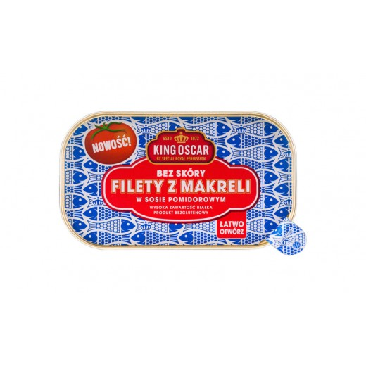 "Mackerel fillets in tomato sauce ""King Oscar"", 110 g"