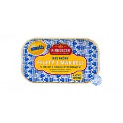 """Mackerel fillets in olive oil with lemon """"King Oscar"""", 110 g"""
