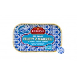 """Mackerel fillets in water with sea salt """"King Oscar"""", 110 g"""
