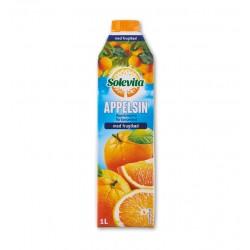"""100% orange juice with pulp """"Solevita"""", 1 L"""
