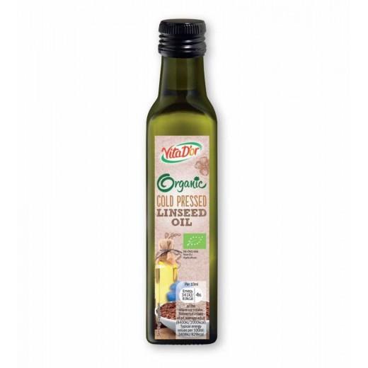 "BIO Organic cold pressed linseed oil ""VitaD'or"", 250 ml"