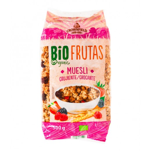 "BIO Organic crunchy fruits muesli ""Crownfield"", 500 g"