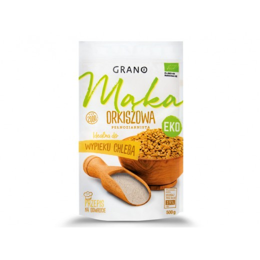 "BIO Organic wholegrain spelt flour ""Grano"", 500 g"