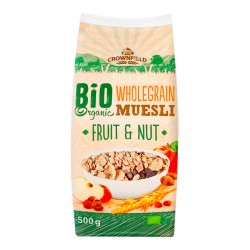 "BIO Organic wholegrain muesli with fruits & nuts ""Crownfield"", 500 g"