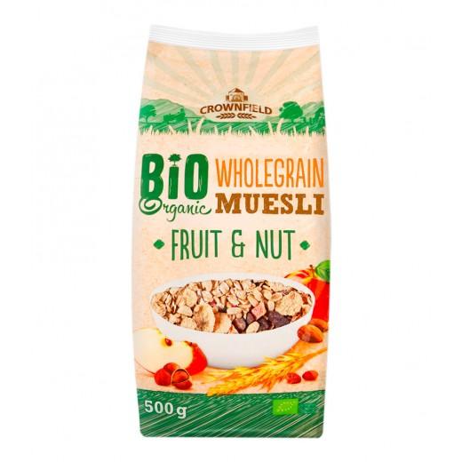 "BIO Organic wholegrain muesli with fruits & nuts ""Crownfield"", 500 g"