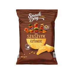 "Crinkle cut potato chips ""Snack day"" BBQ, 150 g"