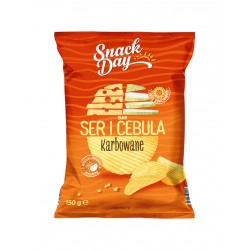 "Crinkle cut potato chips ""Snack day"" cheese & onion, 150 g"