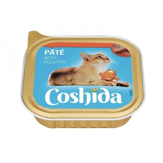 "Premium cat pate with poultry ""Coshida"", 100 g"
