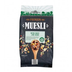 "Premium muesli ""Crownfield"" with luxury fruit and seeds, 750 g"