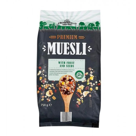 """Premium muesli """"Crownfield"""" with luxury fruit and seeds, 750 g"""