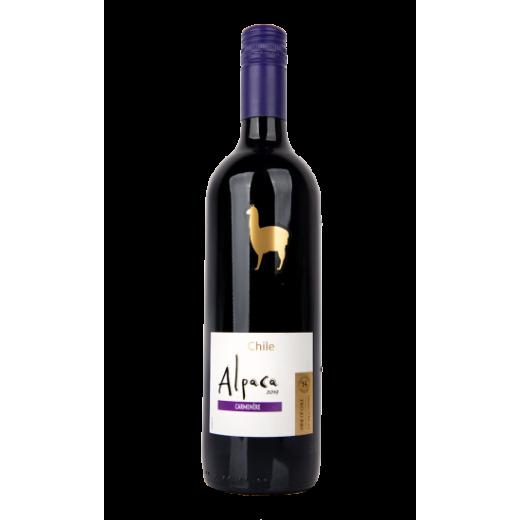 "Red dry wine 13% Carménère ""Alpaca"", 750 ml"
