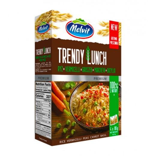 "Rice, vermicelli, peas, carrot, basil  ""Melvit"" Trendy Lunch, 4x80 g"