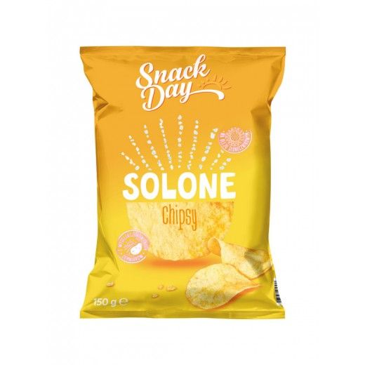 "Salted potato chips ""Snack day"", 150 g"