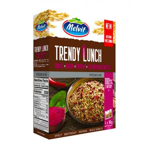 """Spelt, beetroot, pepper, wild garlic """"Melvit"""" Trendy Lunch, 4x80 g"""