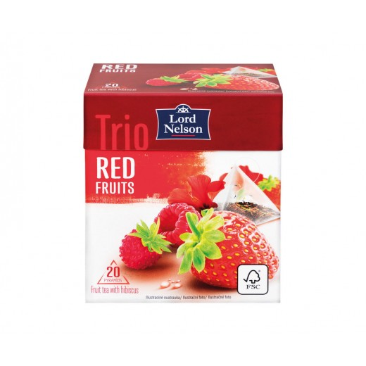 "Trio red fruits tea ""Lord Nelson"", 20 pcs"