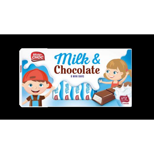 "Milk chocolate bars ""Mister Choc"", 8 pcs"