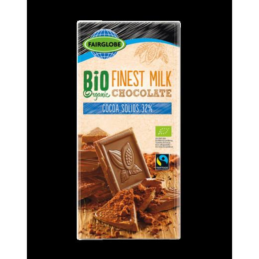 "BIO Organic milk chocolate 32% ""Fairglobe"", 100 g"