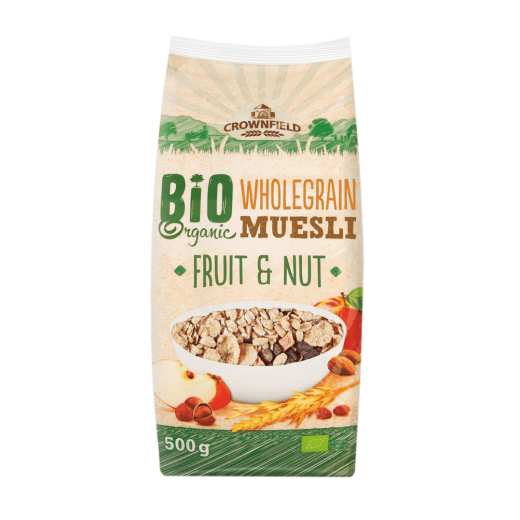 "BIO Organic muesli with fruits & nuts ""Crownfield"", 500 g"