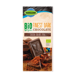 "BIO Organic dark chocolate 70% ""Fairglobe"", 100 g"