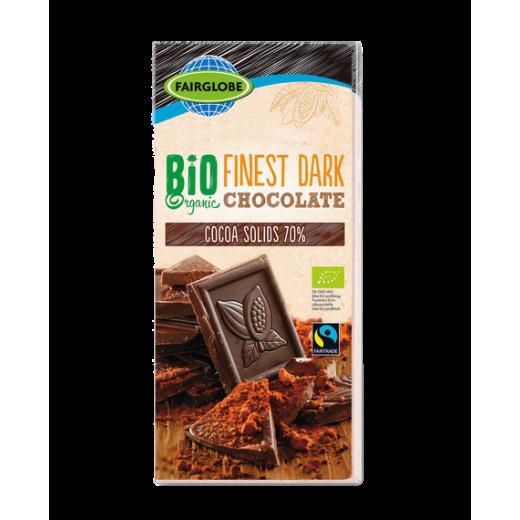 """BIO Organic dark chocolate 70% """"Fairglobe"""", 100 g"""