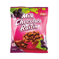 "Milk chocolate raisins ""Mister Choc"", 200 g"