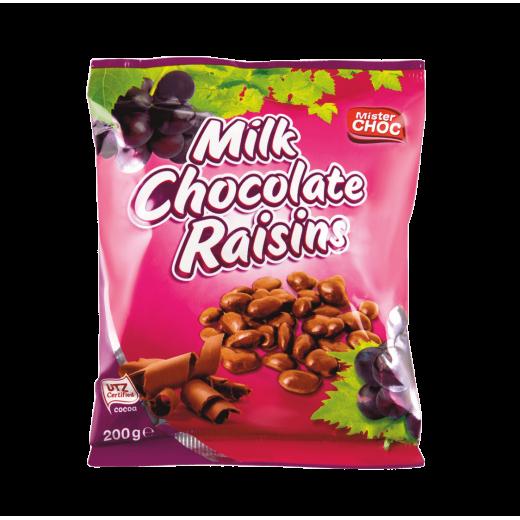 "Milk chocolate raisins ""Mister Choc"", 200 g"