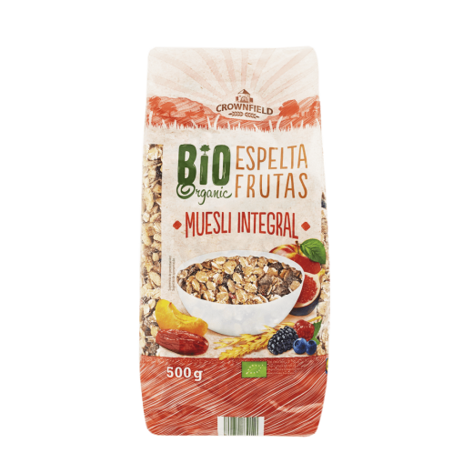 "BIO Organic muesli with fruits ""Crownfield"", 500 g"