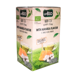 "BIO Organic green tea with manuka honey flavour ""goBIO"", 20 pcs"