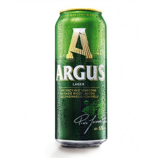 """Pale lager beer 6% """"Argus"""", canned, 500 ml"""