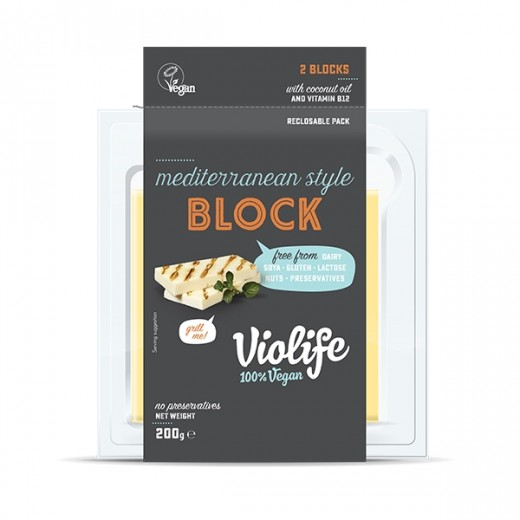 "Mediterranean style vegan cheese block for grill ""Violife"", 200 g"