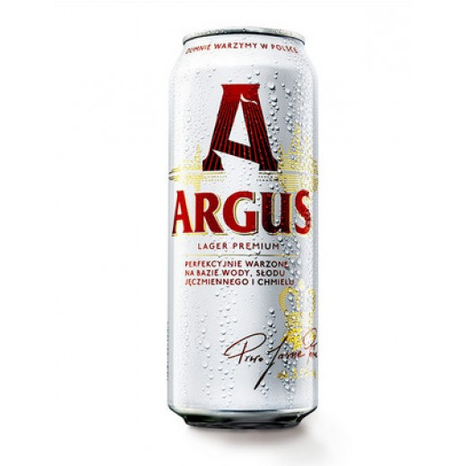 """Premium pale lager beer 4.9% """"Argus"""", canned, 500 ml"""