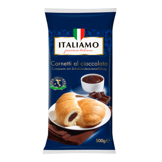 "Croissants with chocolate cream filling ""Italiamo"" Cornetti al cioccolato, 500 g"