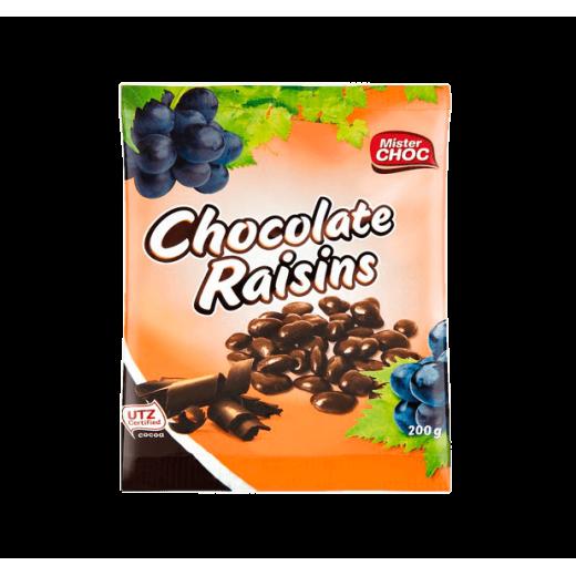 """Dark chocolate raisins """"Mister Choc"""", 200 g"""