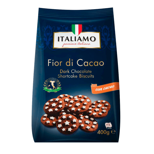 "Dark chocolate shortcake biscuits ""Italiamo"", 400 g"
