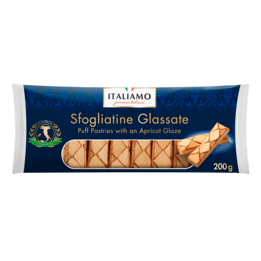 "Puff pastries with an apricot glaze ""Italiamo"" Sfogliatine Glassate"", 200 g"